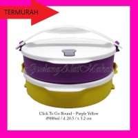 Click to go round Purple Yellow rantang susun Tupperware scto
