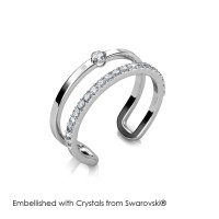 Stylish Ring - Cincin Crystals Swarovski® by Her Jewellery