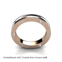 Dual Tone Ring - CIncin Crystals Swarovski® by Her Jewellery