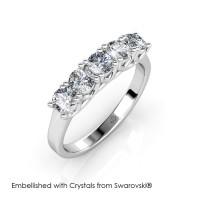 Queen's Ring - Cincin Crystals Swarovski® by Her Jewellery