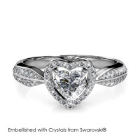 Only Love Ring - Cincin Crystal Swarovski® by Her Jewellery