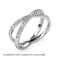 X Ring - Cincin Crystals Swarovski® by Her Jewellery