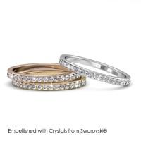 Trinity Ring - Cincin Crystals Swarovski® by Her Jewellery