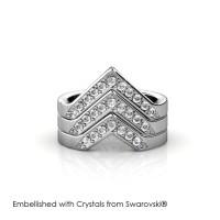Victory Ring - Cincin Crystals Swarovski® by Her Jewellery