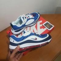 6ee40e460a Sepatu Nike Airmax Air Max 98 OG Gundam Blue Red Premium Original