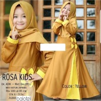 PO-44 ROSSA KID MUSTARD/FASHION ANAK/FASHION MUSLIM ANAK/SET GAMIS