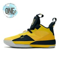b8b1c836026913 NIKE AIR JORDAN 33 Yellow Michigan UNAUTHORIZED BNIB   Sepatu Sneakers