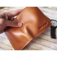 Dompet kulit asli full up pria wanita panjang lipat