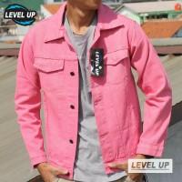 Jaket Jeans Levelup Pink / Jaket Denim Levelup / Jaket Levis Levelup