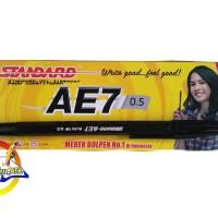 Pen/ Bolpen/ Pulpen/ Ballpoint/ Pena Standart AE7 Hitam - 1 Pack (12)