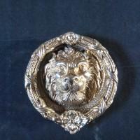 Door knocker / Ketukan Pintu Kuningan Singa Gerbang - Polished Brass