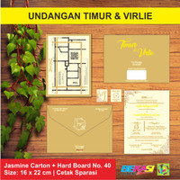 Undangan Exclusive Single Hard Cover Timur & Virlie - Bekasi