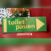 Akrilik Toilet (Penunjuk Arah)