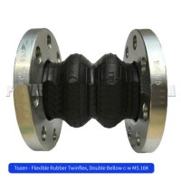 Tozen JIS 20K TwinFlex 1 1/2 inch Flexible Rubber Joint Flange