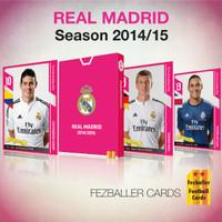 Kartu Bola Fezballer Cards tim LaLiga REAL MADRID season 2014-2015
