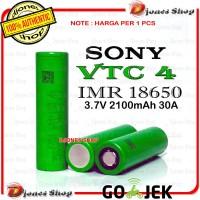 Authentic Battery SONY VTC4 - Baterai Vape Sony VTC 4 18650