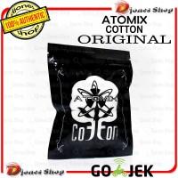 Authentic ATOMIX COTTON ORIGINAL - Kapas Vape Kualitas Premium - BLACK