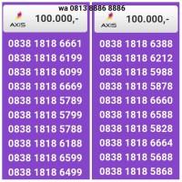 Nomor cantik axis 0838 1818 xxxx /stok 30pc