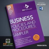 TEMPLATE SOP Business Policies & Procedure Manual Sampler | BizManualz