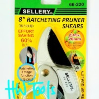 "New Ratchet Pruning Shears 8"" / Gunting Bunga Sellery 66-220"