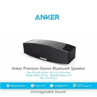 Harga anker premium stereo speaker powerful bass black | Pembandingharga.com