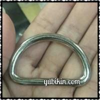 12 Piece Ring D Besi Nikel 4cm