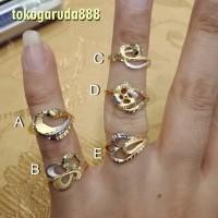 Cincin emas asli kadar 700 70% 22 1 g gr gram gold warna putih krawang