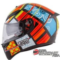 Helm AGV K3 SV Element Visor Elements Full Visor Red Yellow K3SV