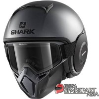Helm Shark raw Street Dark Silver matt