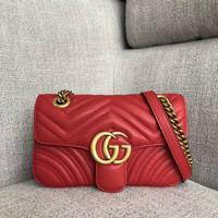 ff525f9b1 Tas Gucci Shoulder GG Marmont Matelasse Mini Mirror 446744-1