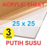 Acrylic Sheet / Akrilik Lembaran 3mm 25 x 25 cm