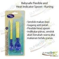 BabySafe Flexible and Heat Indicator Spoon BS350 - Sendok Makan Bayi