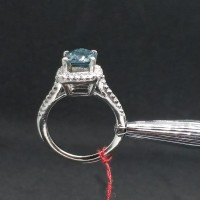 Cincin Berlian Certified Blue Diamond 1.09 ct Sparkling Mewah Murah