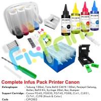 Paket Infus Printer Modif Canon iP2770 MP287 MP237 TS307 TS207 Lengkap