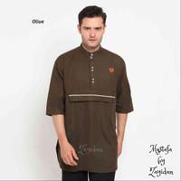 Baju Koko Terbaru Zayidan - Mustafa - Olive