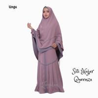 Gamis Set Khimar PREMIUM - Queenza - Siti Hajar series - Ungu