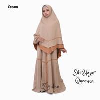 Gamis Set Khimar TERBARU Queenza - Siti Hajar series - Cream