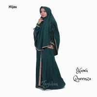 Gamis Syari set Khimar Queenza - Hawa - Hijau (Gamis Busui)