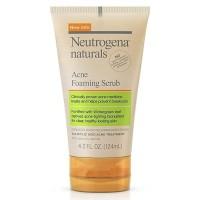 Neutrogena Naturals Acne Foaming Facial Scrub 124ml