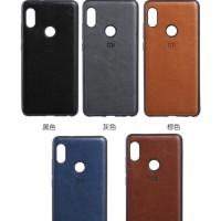 Redmi Note 6 pro Luxury Logo PU Leather Skin Back Cover Case