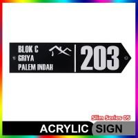Nomor Rumah Akrilik / Acrylic Slim Series 05