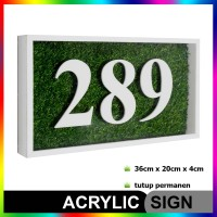 Nomor Rumah Akrilik / Acrylic GRASS Series 01