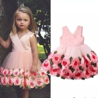 dress pesta anak/dress anak/gaun pesta anak/gaun import/dress bunga
