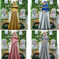 gamis batik remaja/busana muslim/gaun pesta/baju kondangan/jalan/dress