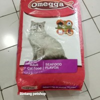 Makanan kucing omega seafood 20kg cat food omegga seafood 20kg catfood