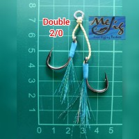 Assist hook / kail double micro jigging 2/0