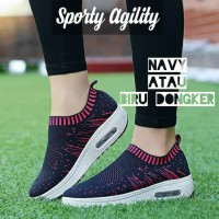 Sepatu Kets Wanita Casual Sport Slip On