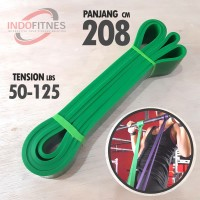 208cm Loop Elastic Resistance Band Hijau - Karet Gym Fitness Pull Up