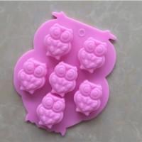 Cetakan Kue Owl Shape Silicone DIY Ice Cube Soap Chocolate - HKN258