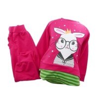 Harga fs setelan anak perempuan gambar kelinci kacamata lucu tebal 3 | Pembandingharga.com